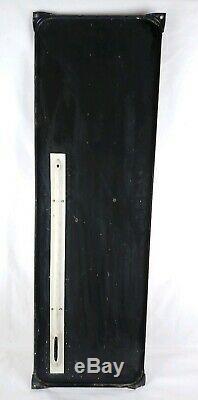 Ancienne grande plaque émaillée thermomètre KLG de garage 1950 98cm