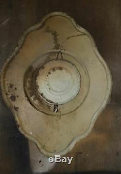 Ancienne pendule chocolat revillon en tole peinte pas plaque émaillée