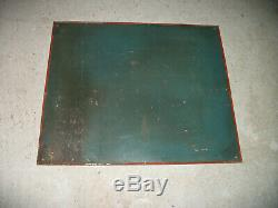 Ancienne plaque Saving-Fire Oil non émaillée garage huile moteur en tôle