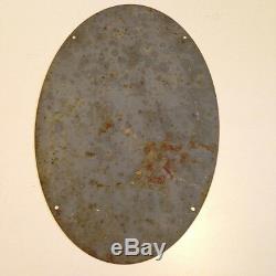 Ancienne plaque Tôle pas émaillée HUILE IGOL Originale déssinée par J. L. PESCH
