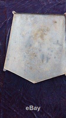 Ancienne plaque écusson MICHELIN BIBENDUM 1967, lof, vintage, garage émaillée