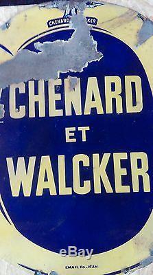 Ancienne plaque émaillé CHENARD ET WALKER 1930 garage, auto, moto