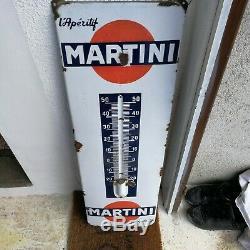 Ancienne plaque émaillé THERMOMÈTRE MARTINI des années 60 Vox publicité