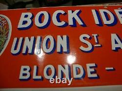 Ancienne plaque émaillée BOCK IDEAL UNION ST AMAND ROUBAIX, NORD, KOEKELBERG