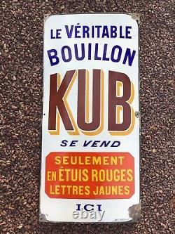 Ancienne plaque émaillée BOUILLON OXO LIEBIG ÉPICERIE 1920/25 Enseigne Boeuf