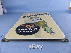 Ancienne plaque émaillée Bière CENTENAIRE Brasserie du Pêcheur FISCHER EAS