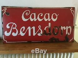 Ancienne plaque émaillée CACAO BENSDORP