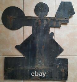 Ancienne plaque émaillée CASINO d'aprés Cassandre Emaillo gravure E. A. S 68x75cm