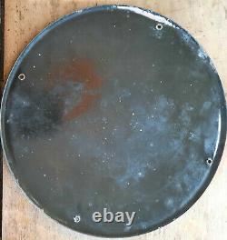 Ancienne plaque émaillée CASTROL huile moteurs automobilia garage E. A. S 33cm