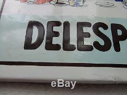 Ancienne plaque émaillée CHOCOLAT DELESPAUL-HAVEZ E. A. S no menier kub maggi oxo