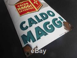 Ancienne plaque émaillée Caldo Maggi, old porcelain sign, emailschild