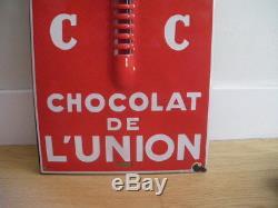 Ancienne plaque émaillée Chocolat. Emaillerie Alsacienne Strasbourg