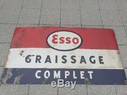 Ancienne plaque émaillée Esso