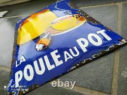 Ancienne plaque émaillée Française des années 50