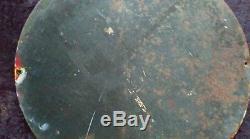 Ancienne plaque émaillée HUILE CHANTECLER COQ, lof, vintage, garage, auto, moto