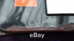Ancienne plaque émaillée HUILE LABO NEUHAUS, lof, vintage, garage