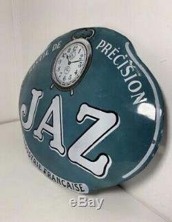Ancienne plaque émaillée JAZ réveil de précision