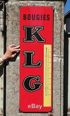 Ancienne plaque émaillée KLG publicité t 1950 1960