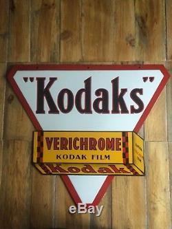 Ancienne plaque émaillée KODAK Double Face