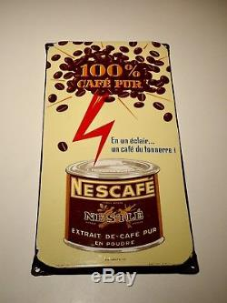 Ancienne plaque emaillée Nescafé