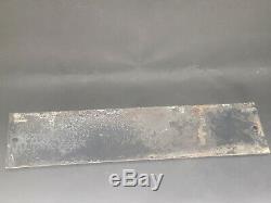 Ancienne plaque émaillée Originale Bombée Défense absolue de cracher par terre