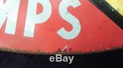 Ancienne plaque émaillée POLAROIL, champion France 1955 side car cross DUBOIS