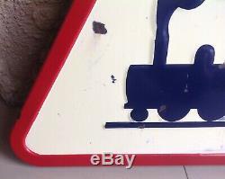 Ancienne plaque émaillée Panneau Sncf Train Locomotive