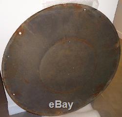Ancienne plaque émaillée Pneus DUNLOP garage bidon huile caisse n shell michelin