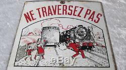 Ancienne plaque émaillée SNCF Chemin de fer par Laborde