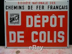 Ancienne plaque émaillée SNCF train