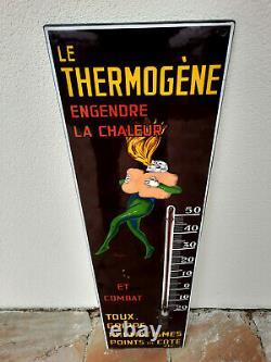 Ancienne plaque émaillée THERMOGENE CAPPIELLO email Belge-Bruxelles 30x110cm