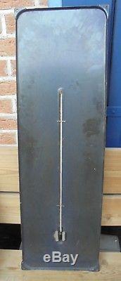Ancienne plaque émaillée Thermomètre Pneus KLÉBER V10GT 98 x 31 cm DN183