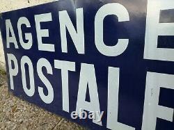 Ancienne plaque émaillée agence postale