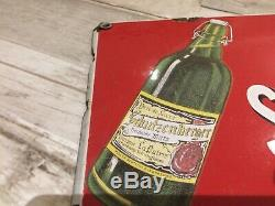 Ancienne plaque emaillée bière schutzenberger art france luynes