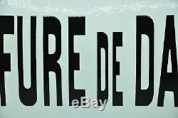 Ancienne plaque émaillée bombée enseigne COIFFURE DE DAMES collection coiffeur
