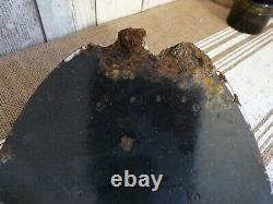 Ancienne plaque émaillée bombée esso
