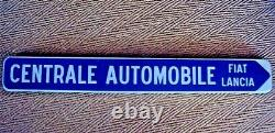 Ancienne plaque émaillèe central automobile Fiat Lancia