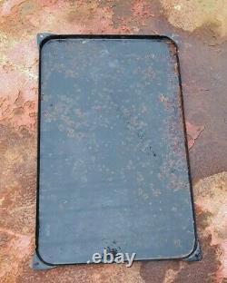 Ancienne plaque émaillée conserveries poisson Viandes LARZUL 1958 47.5x29.5