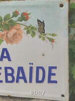 Ancienne plaque émaillée de maison ou villa vers 1900 La Thebaide