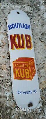 Ancienne plaque émaillée de propreté kub