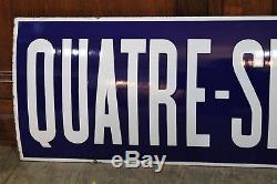 Ancienne plaque émaillée du métro de Paris Quatre Septembre