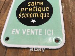 Ancienne plaque émaillée éponge végétale SPONTEX