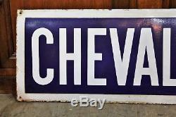Ancienne plaque émaillée métro de Paris Chevaleret
