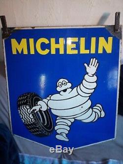 Ancienne plaque émaillée michelin