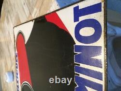Ancienne plaque emaillée pellicule guillemot atelier pro double face