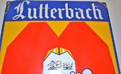 Ancienne plaque émaillée publicitaire Bière LUTTERBACH Brasserie d'Alsace