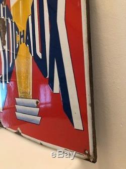 Ancienne plaque émaillée publicitaire Bière SOCHAUX Brasserie du Doubs 25