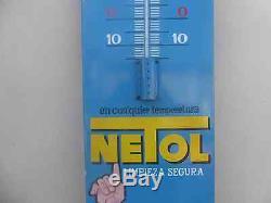 Ancienne plaque émaillée thermomètreNetol, emailschild, porcelain sign