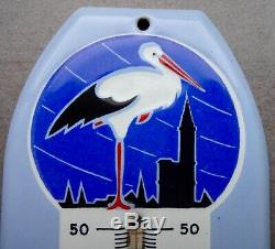 Ancienne plaque émaillée thermomètre POTASSE D'ALSACE no kub maggi menier liebig