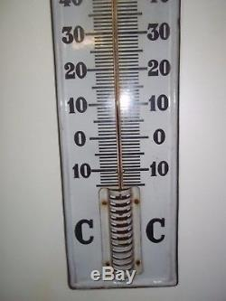 Ancienne plaque emaillée thermometre huiles castrol 1920 garage automobilia